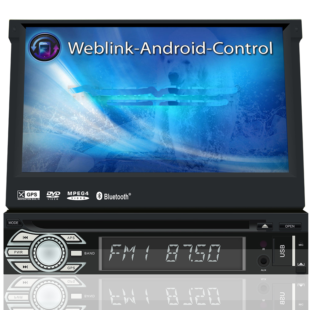 dab autoradio bluetooth 7 mit bildschirm navigation navi. Black Bedroom Furniture Sets. Home Design Ideas