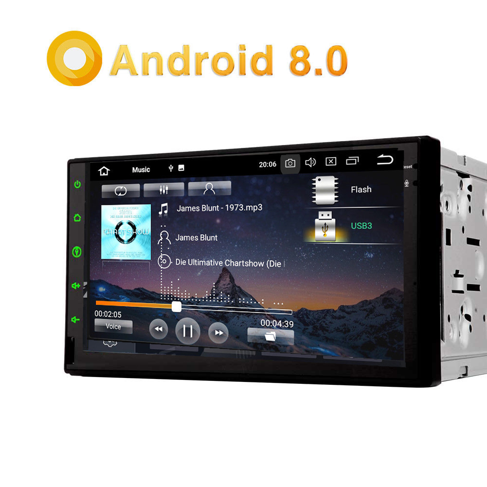 7 android 8 0 autoradio radio doppel 2din gps navi dab. Black Bedroom Furniture Sets. Home Design Ideas