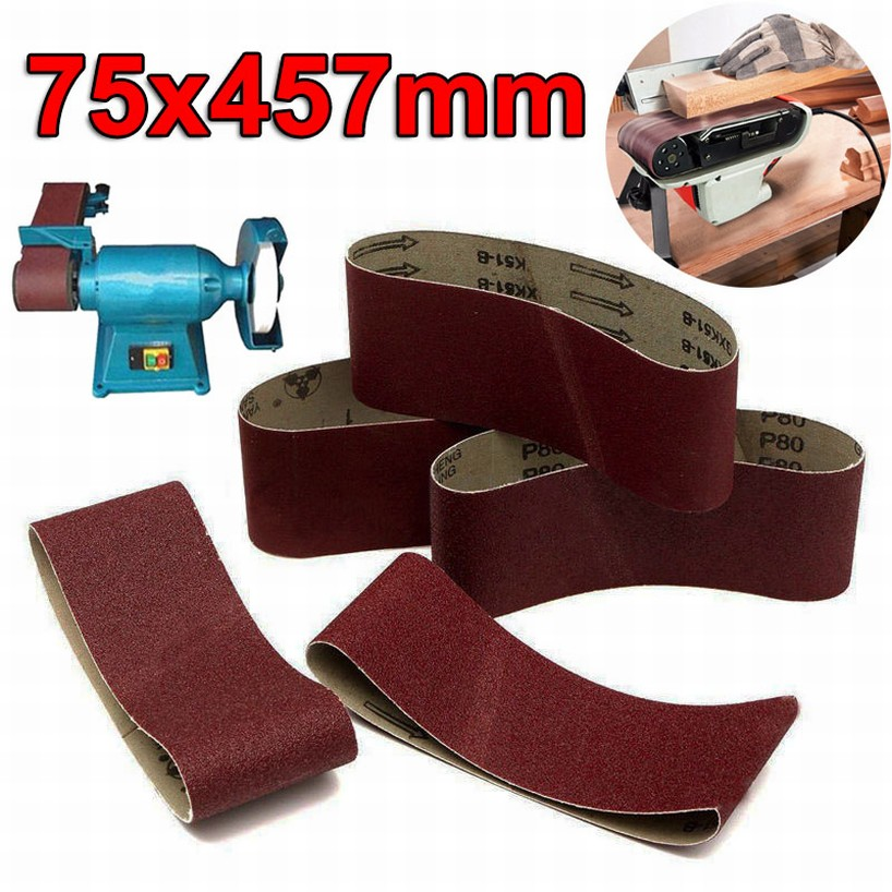 100 x 915mm Sanding Belts 40~1000 Grit For Wood Metal Grinding Abrasive Tool