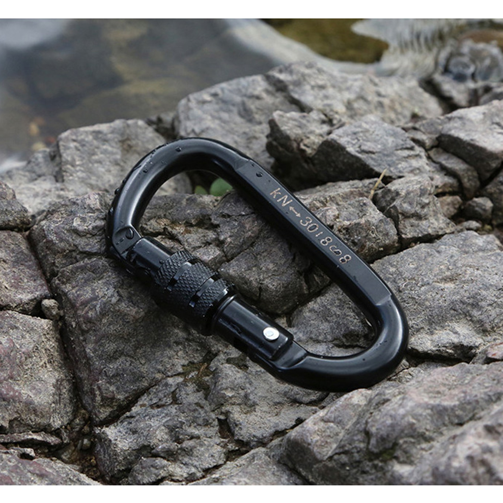 Aerial Work Rope Access Rock Climbing Screwgate Locking Carabiner 25KN