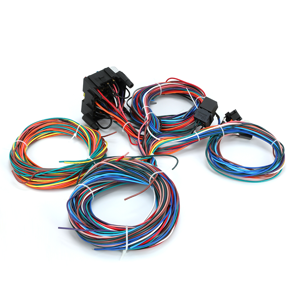 12 Circuit Universal Wire Harness Muscle Car Hot Rod Manual Guide