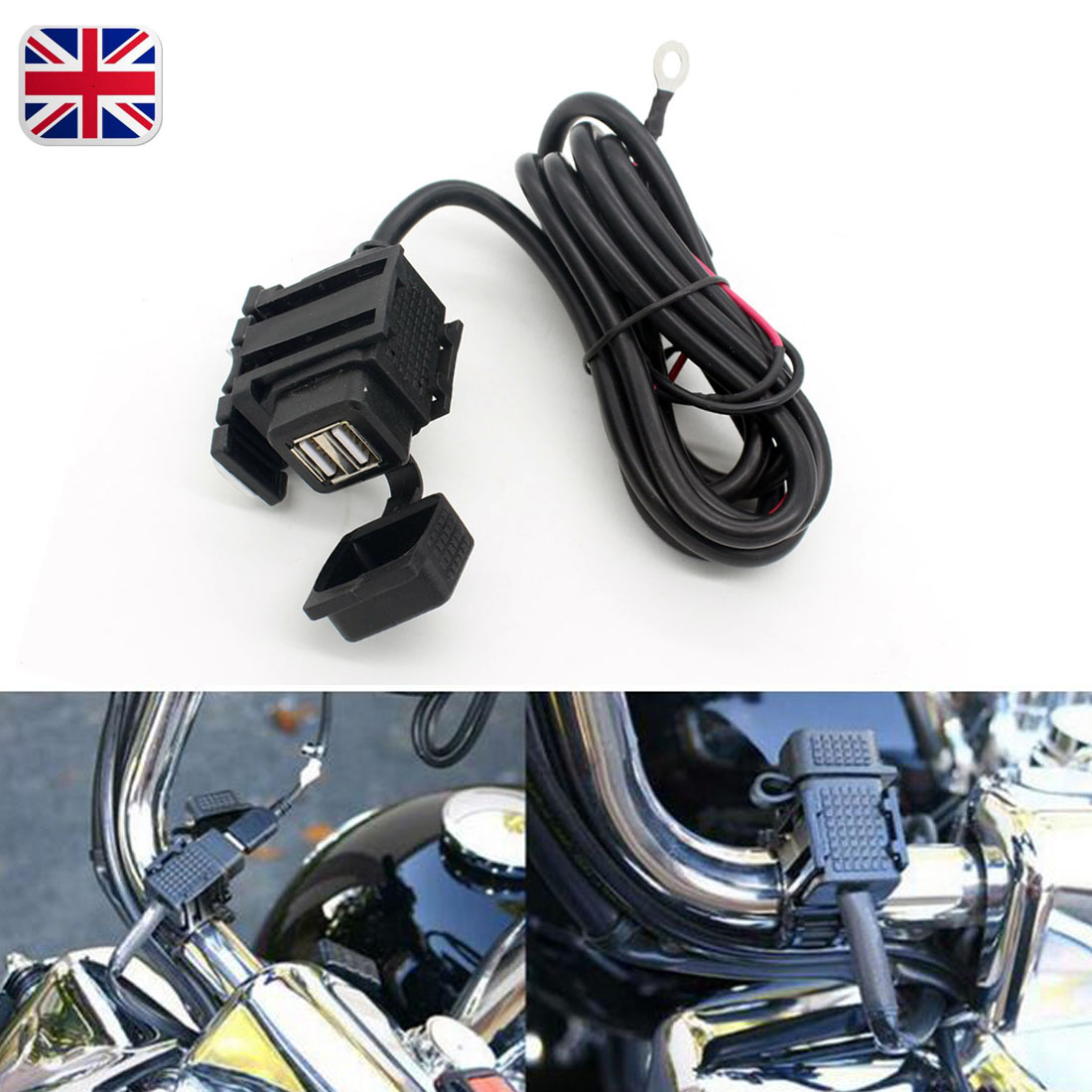 Motorcycle Car Charger 12v Dual Usb Port Power Socket Phone Gps Wiring To 1usb 21a