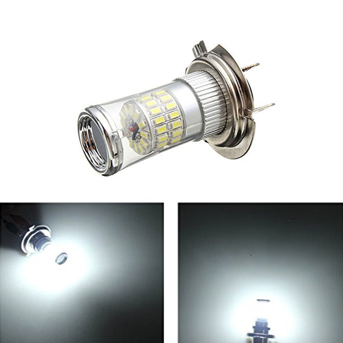 H7 Xenon WHITE 3014 SMD 48 TURBO LED CAN BUS  Car Fog Bulbs fit VW BMW AUDI