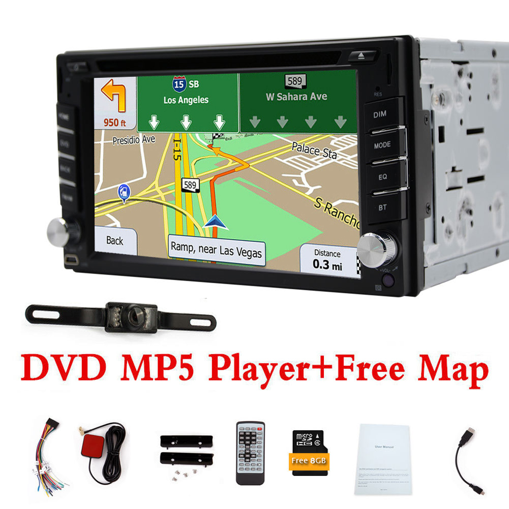 autoradio navigation mit doppel 2din gps navi bluetooth usb mp3 dvd cd sd cam de ebay. Black Bedroom Furniture Sets. Home Design Ideas