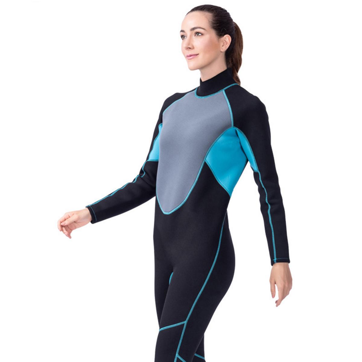 7d296d1085 Details about WOMEN Wetsuit 3MM Full Body Suit Super Stretch Diving Suit Swim  Surf Snorkeling