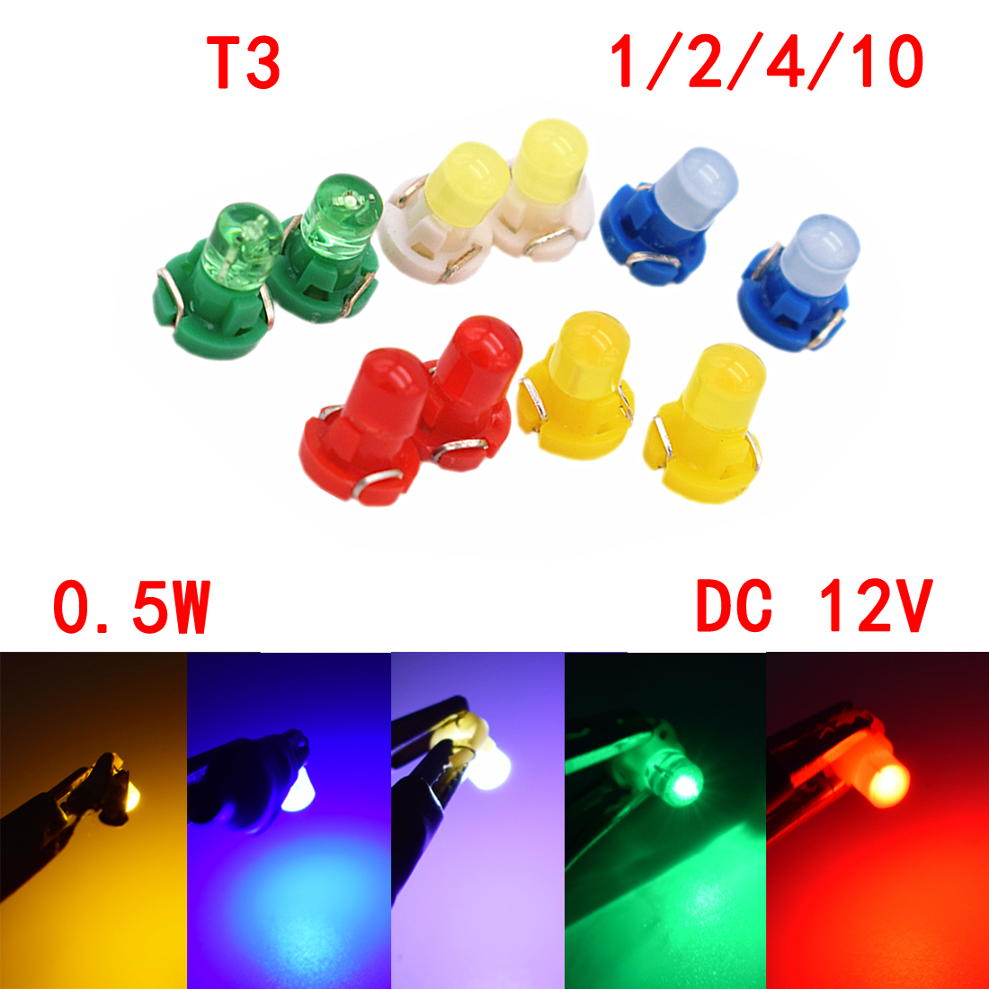 1 2 4 10x T3 Led Wedge Cluster Instrument Dash Climate Base Lamp Lightings Gt Wholesale Lamps 5mm Leds Bulb