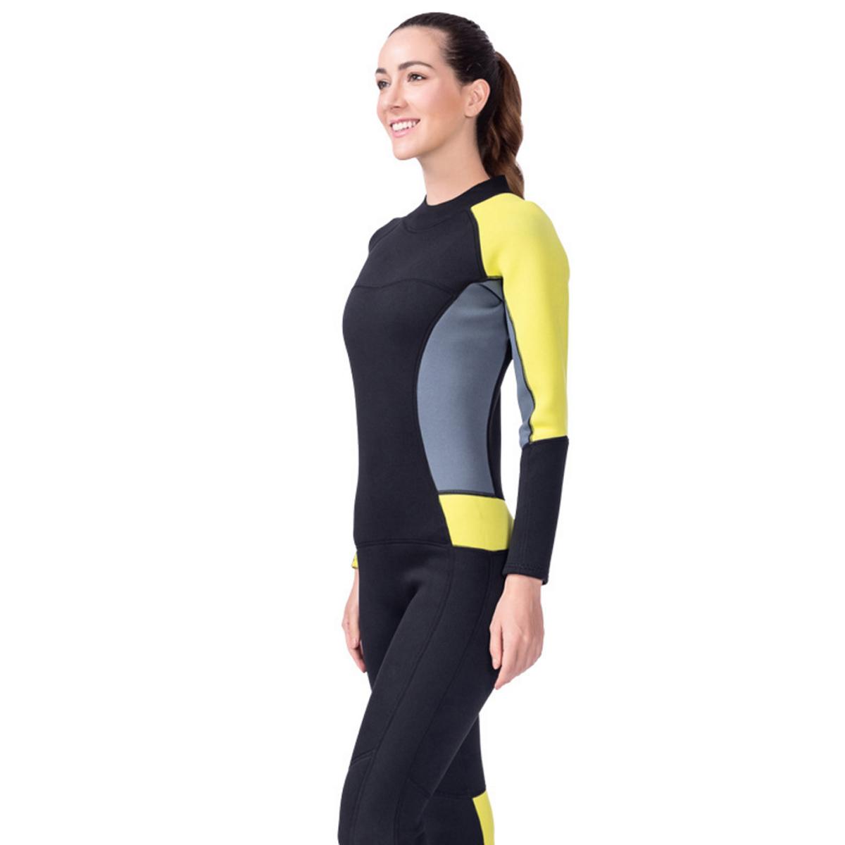 e9f46efcd8 Details about Women 3mm Neoprene Long Wetsuit One-piece Swimsuit Swimwear  Surfing Diving Suit
