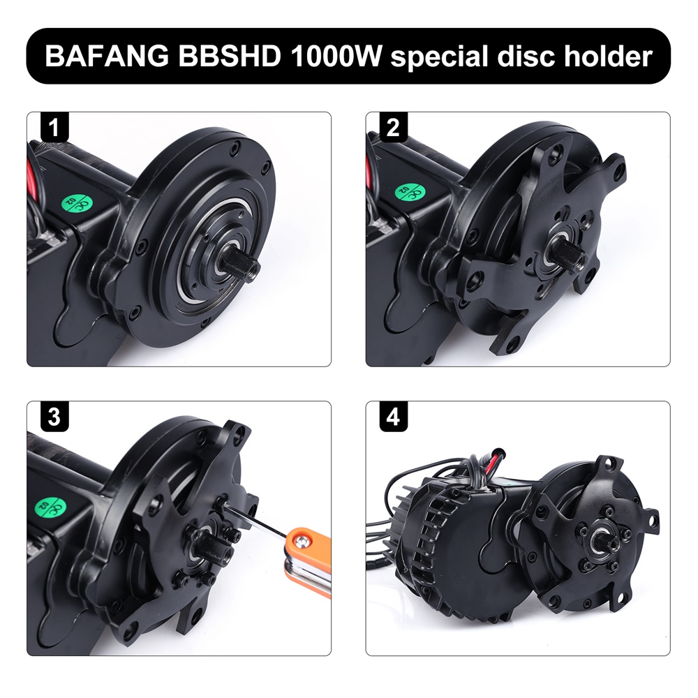 130BCD Spider Chain-Ring Adaptor For Bafang BBSHD E-bicycle Mid Drive Motor Part