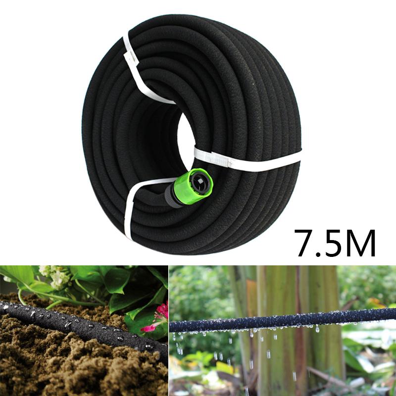 Soaker Tuyau eau 15 M poreux gazon plante de jardin Tuyau Serre Irrigation NEUF