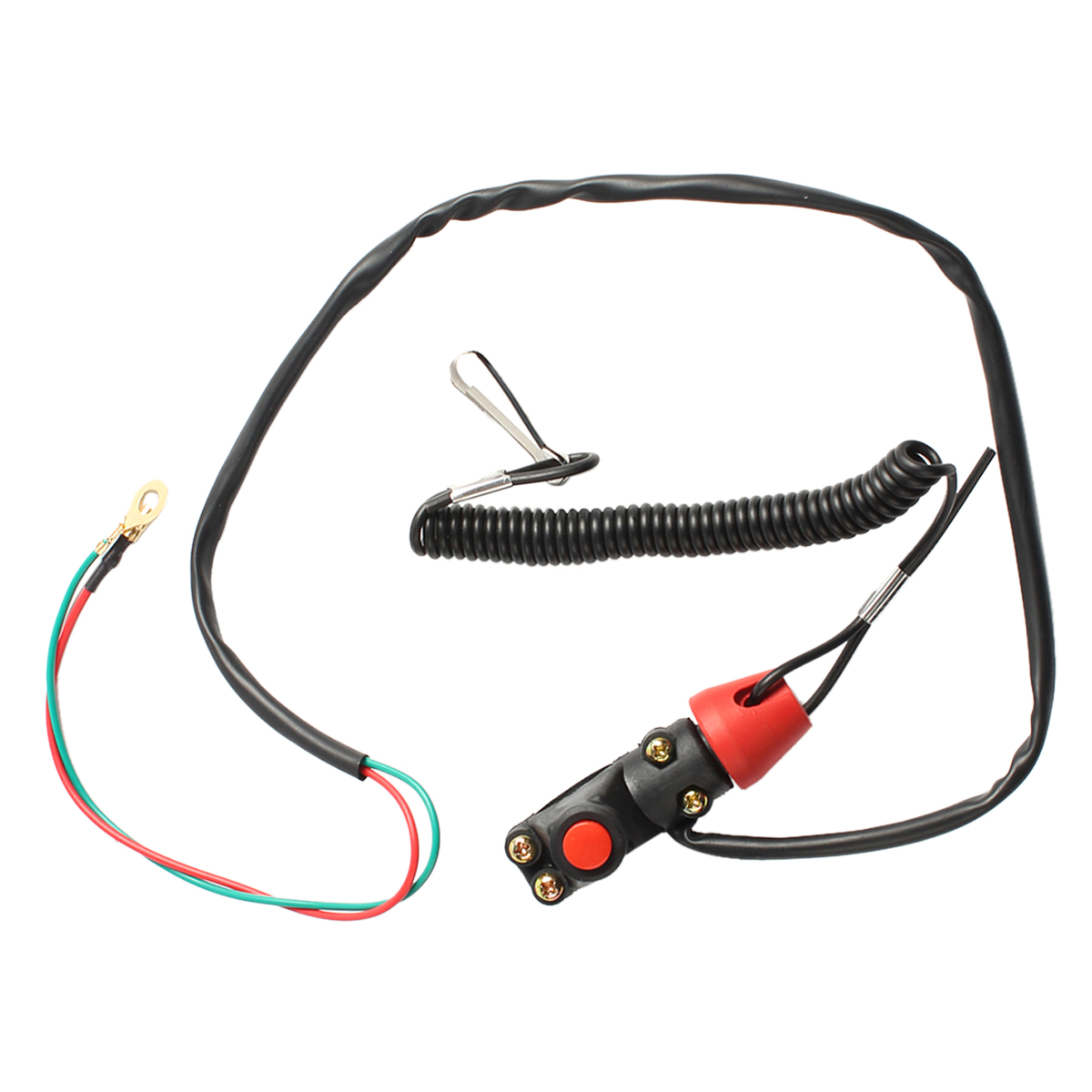 47cc 49cc Motorcycle ATV Engine Emergency Kill Stop Switch Safety Tether Kit