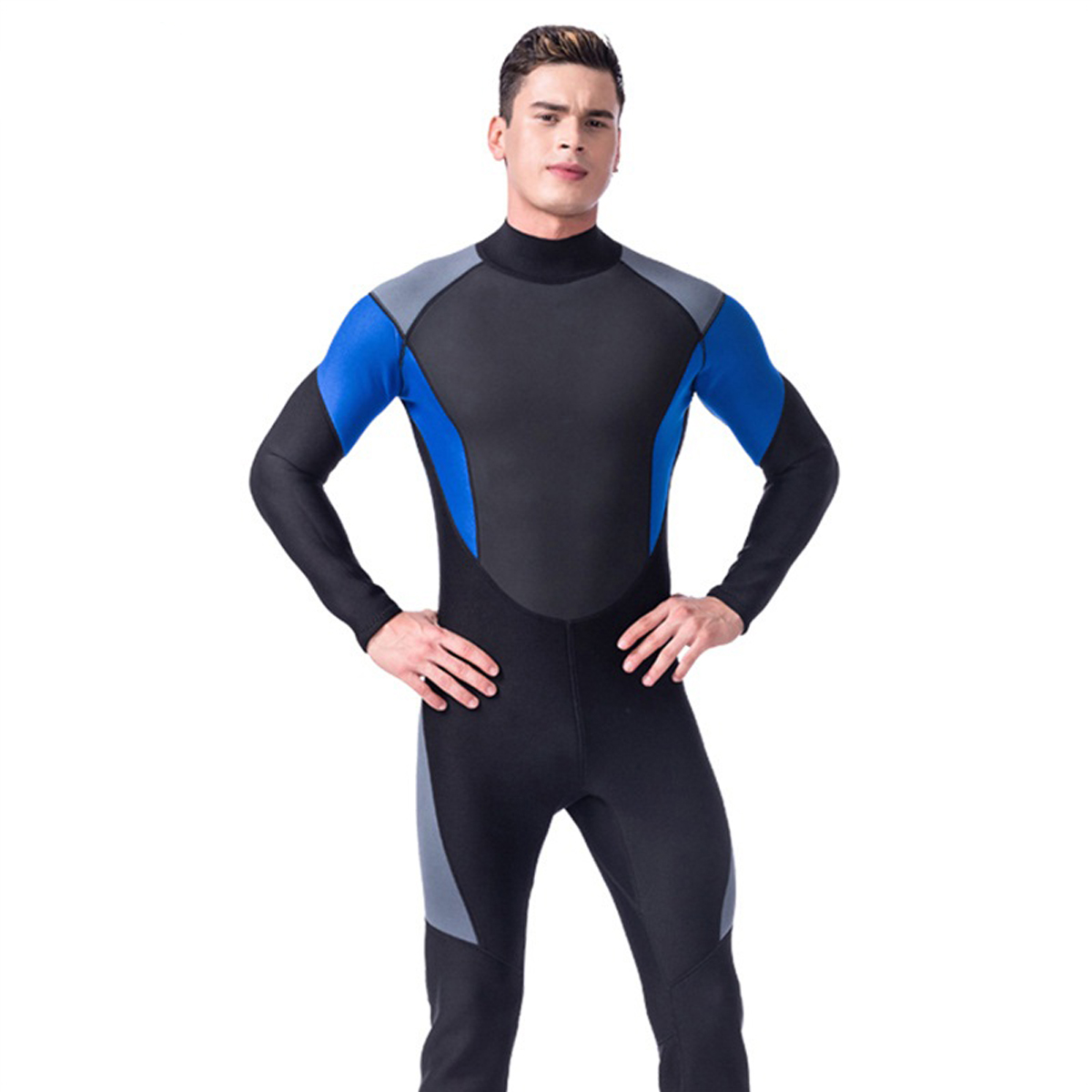 00d90565dd Details about Men 3MM Neoprene Full Wetsuits One-Piece Surf Surfing  Snorkeling Diving Wet Suit
