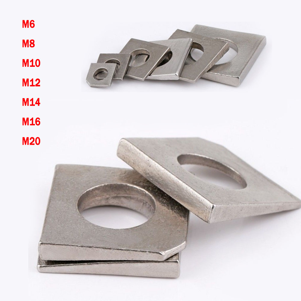 Details about M6~M20 Metric Square Bevel Washers Beam Flange Wedge 304 A2  Stainless Steel