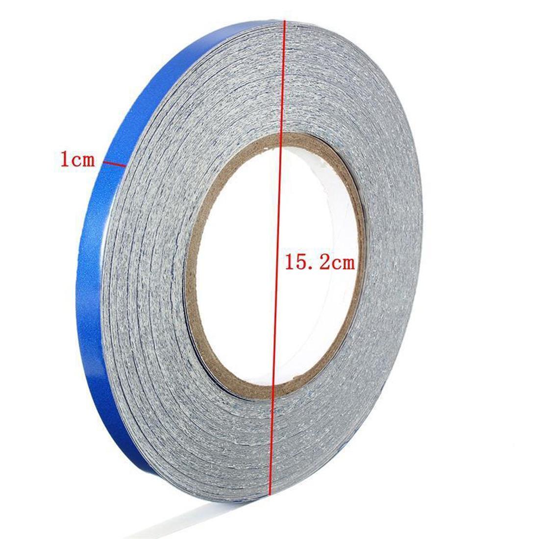 Blue Reflective Pinstripe Stripe Vinyl Tape Sticker Self