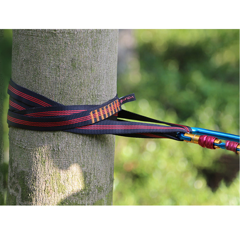 Safety Rock Climbing Tree Rigging Sling Webbing Strap Belt Loop Strap 22KN