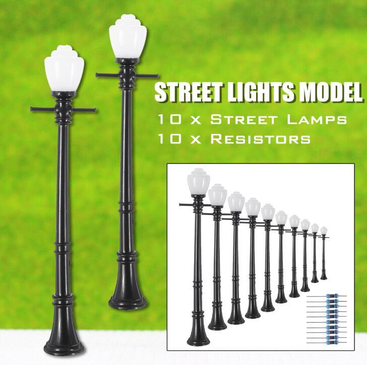 ✅LIONEL OR MTH LED STREET LAMP POST LIGHT SET O GAUGE TRAIN ACCESSORY BUILDING
