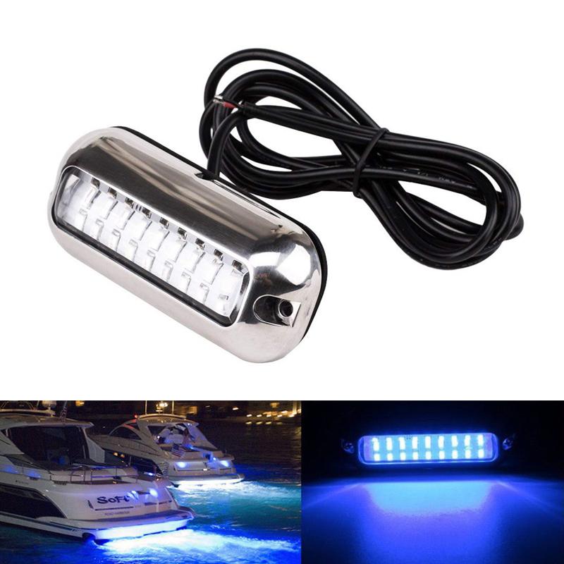 IP68 Wasserdicht 27 LED 12V Marine Bootsbeleuchtung Unterwasser Hecklicht Blau